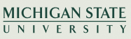 Michigan State University wordmark.